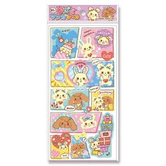 cute lenticular stickers, changing image stickers from Japan