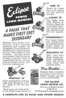 Eclipse Lawn Mowers 1951 Ad