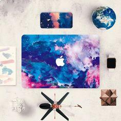 For Macbook Air Pro Retina Colorful Cloud Painting Decal Sticker Full Skin Cover Macbook Skin, Apple Laptop Macbook, Macbook Case, Laptop Case, Laptop Skin, Ipad Case, Macbook Pro Tips, Macbook Decal Stickers, Macbook Air Pro