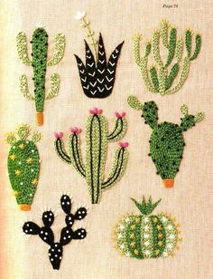 office activities cactus needlepoint