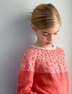 Ravelry: Bobble Yoke Sweater for Kids pattern by Purl Soho