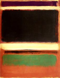 'Magenta, Black, Green on Orange', oil on canvas painting by Mark Rothko, 1947, Museum of Modern Art - Mark Rothko - Wikipedia, the free encyclopedia