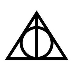 Harry Potter Deathly Hallows tattoo.... The wand symbolizes not to get drunk over power. The stone represents the love you will always have even when the loved ones are gone. And the cloak represents living life and when death comes, you welcome it as a friend.