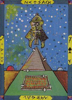 Seven of Swords - Kazanlar Tarot by Emil Kazanlar  (Szellem és piramis)