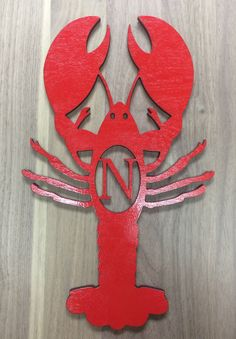 Country Unfinished Wood Crawfish Laser Cutout Southern Door Decor Crayfish
