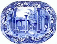 Blue & White China. Antique English Pottery. New Burleigh & Spode