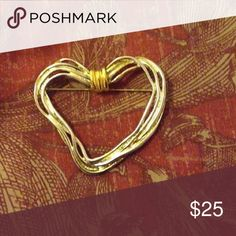 🆕 Vintage Premier Designs Modernist Heart Brooch Vintage 1970's PD (Premier Designs) Modernist Heart Brooch IN BEAUTIFUL CONDITION!! Marked PD Crown on flip side. Straight pin-clasp closure. Gold tone. Approximately 3x3 inches Vintage Jewelry Brooches