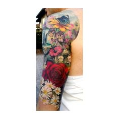 Tattoo Artist Ondrash Inks Watercolor Paintings into Skin ❤ liked on Polyvore featuring accessories