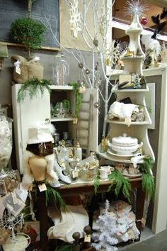 Love the white branch, love this display