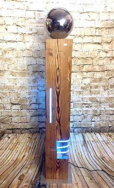Holzbalken mit LED I mit Silberkugel