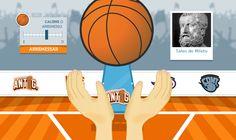 Batalha das eras - jogo de basquete onde o intuito é conhecer os pensadores de cada época.