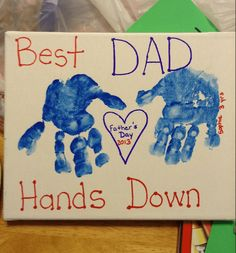 Fathers Day Craft Toddler, Toddler Arts And Crafts, Fathers Day Art, Mothers Day Gifts From Daughter, Mothers Day Crafts, Toddler Gifts, Easy Father's Day Gifts, Homemade Fathers Day Gifts, Diy Father's Day Cards