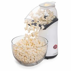 Treat yourself to a low-fat, low-calorie snack with the Orville Redenbacher's™ Gourmet® Hot Air Popper. This great popcorn maker uses hot air and not oil, making it a healthier and more economical choice than microwave bag popcorn. Best Popcorn, Pop Popcorn, Popcorn Maker, Hot Air Popcorn Popper, Air Popper, Corn Pops, H & M Home, Slumber Parties, Sleepover