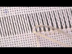 Embroidery. Learn How To Hem Stitch Ladder 2 threads - YouTube