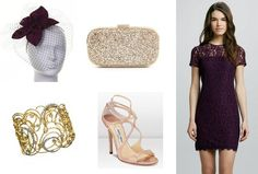 Plum and gold outfit - perfect for semi-formal summer weddings