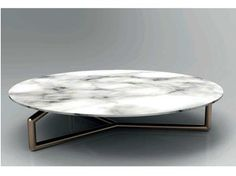 Low round coffee table GINGER - Esedra by Prospettive