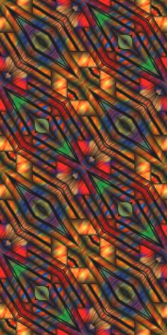 Quilting Artist Made Fabric Large Panel Abstract by jacquedesigns, $17.99