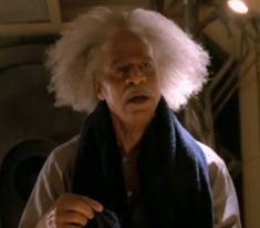 Ron Glass, as Shepherd Book, about to terrify River.