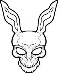 how to draw frank the rabbit, donnie darko step 7