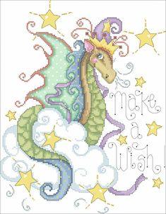 Dragon cross stitch Beaded Cross Stitch, Dragon Cross Stitch, Cross Stitch Fairy, Cross Stitch For Kids, Crochet Cross, Counted Cross Stitch Patterns, Cross Stitch Designs, Cross Stitch Charts, Cross Stitch Embroidery