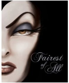 """Fairest of All"" by Serena Valentino. The first in a new series of Disney Villain novels. This one is about the Wicked Queen from Snow White. Such an easy, quick read... and I'm obsessed."
