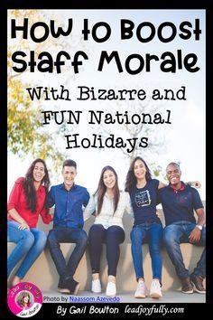 Teacher Morale, Employee Morale, Staff Morale, Workplace Motivation, Staff Motivation, Volunteer Appreciation, Teacher Appreciation Week, Appreciation Gifts, School Leadership