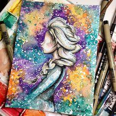 triciakibler's photo on Instagram Disney Artwork, Disney Fan Art, Disney Drawings, Disney Love, Disney Magic, Art Drawings, Disney Films, Disney And Dreamworks, Jack And Elsa