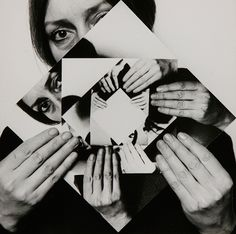 Dóra Maurer, Seven Rotations 1 1979 (Adventures of the Black Square) Whitechapel 2015 Photomontage, White Photography, Portrait Photography, Conceptual Photography, Reflection Photography, Dora Maar, Art Plastique, Beautiful Artwork, New Shows