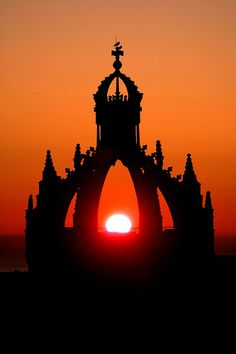 Crown Tower at sunrise, King's College, Aberdeen by iancowe, via Flickr