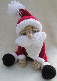 Cute Santa Claus pattern $4.95 on Craftsy at http://www.craftsy.com/pattern/crocheting/toy/cute-santa-claus-by-teri-/36557