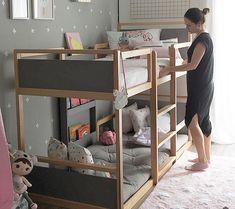Toddler Bunk Beds, Bunk Beds Boys, Cool Bunk Beds, Kid Beds, Small Bunk Beds, Warm Bedroom, Bedroom Decor, Master Bedroom, Bedroom Bed