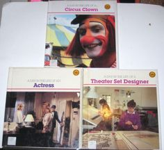 Circus Clown Actress Theater Set Designer A Day in the Life of A Kid Career