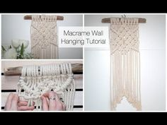 How To Make A Macrame Wall Hanging Tutorial (For Beginners) - YouTube