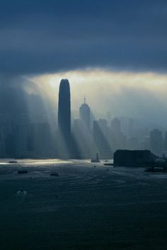 Black rain in Hong Kong