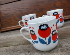 Makovice ... retro mugs Dubi, Czechoslovakia