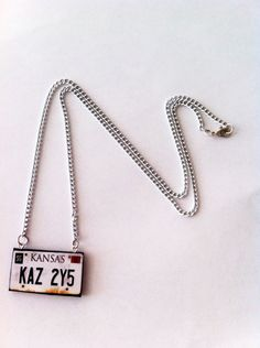 Supernatural Impala License Necklace by LoveForAchilles on Etsy, $14.00