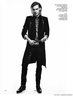Ton Heukels Dons Fall Leather for LOfficiel Hommes Germany image Ton Heukels LOfficiel Hommes Germany