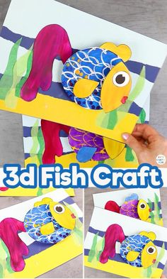 Summer Crafts For Toddlers, Cute Kids Crafts, Recycled Crafts Kids, Animal Crafts For Kids, Paper Crafts For Kids, Craft Activities For Kids, Diy Arts And Crafts, Toddler Crafts, Preschool Crafts