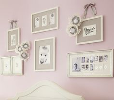 Silver Leaf First Year Frame | Pottery Barn Kids over the crib decor