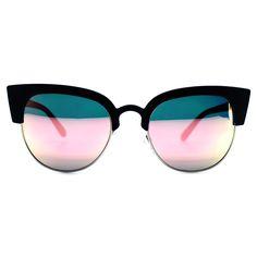 Quay Australia Avalon Sunglasses in Black/Rose