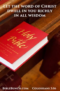 Let the word of Christ dwell in you richly in all wisdom #Bible  Please share with friends and family!