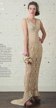 Crochetemoda Blog: Janeiro 2016 Moda Crochet, Free Crochet, Knit Crochet, Crochet Summer, Crochet Stitch, Chrochet, Crochet Wedding Dresses, Crochet Dresses, Interweave Crochet