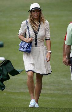 Caroline Wozniacki at the 2013 #Masters with a #Chanel purse #tennis #wta
