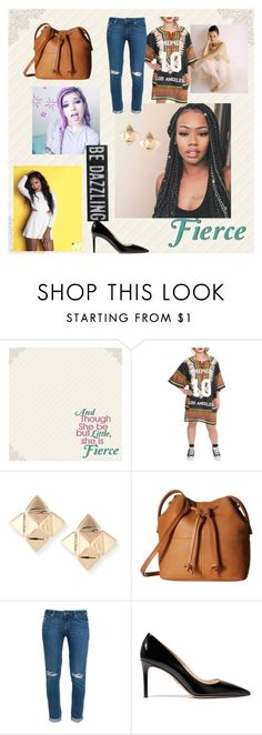 """""""Fresh on the outside,fierce on the inside"""" by jenny-on-fleek on Polyvore featuring Dimepiece, Valentino, ECCO, Palmer's, Paige Denim and Prada"""