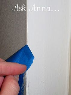 How to tape when painting and have it actually work.--I painted stripes on a wall and cussed it to no end.  I swore I would never do stripes again although I love them.  Now, I know I can do nice lines with no touch-ups!  Thank you for this tutorial!