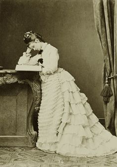 Maria Jose, duquesa en Baviera y la infanta de Portugal. Década de 1870.