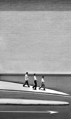 Fan Ho, Three men walking, 1962, from series Living Theater