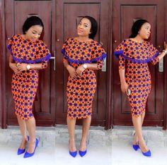 Classical Ankara Styles Short Gown for Ladies .Classical Ankara Styles Short Gown for Ladies African Print Dresses, African Dresses For Women, African Attire, African Wear, African Fashion Dresses, African Women, Ankara Fashion, Nigerian Fashion, Ghanaian Fashion