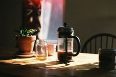 Coffee Shop, Coffee Maker, Slow Mornings, Slow Living, Morning Light, French Press, Film Photography, Hygge, Dream Life