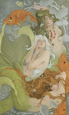 Artodyssey: CP Wyatt - Christina Wyatt http://www.pinterest.com/toolangigirl/mermaid-merwoman-selkie/